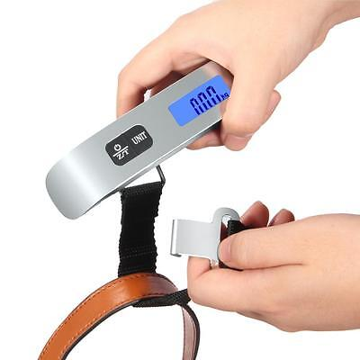 50 kg /110 lb Electronic Digital Portable Luggage Hanging Weight Scale Backlit