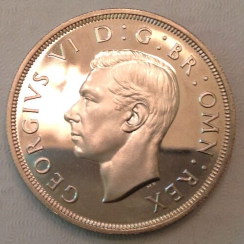 - 1937 Great Britain One Silver Crown George VI  - Proof
