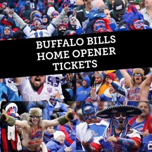 BUFFALO BILLS HOME OPENER TICKETS THIS SUNDAY FROM $88 CAD!!!