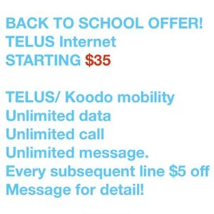 TELUS home service. Internet, home security TV and mobility