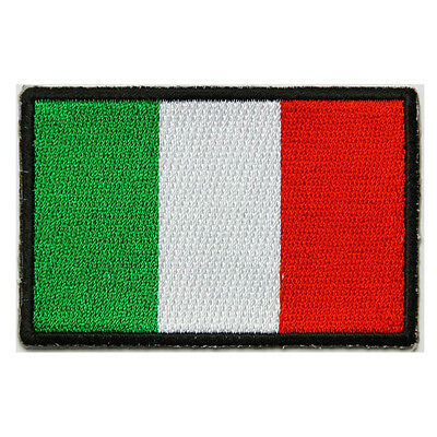 Italian Flag Patches (Embroidered Italy Italian Flag Sew or Iron on Patch Biker Patch)