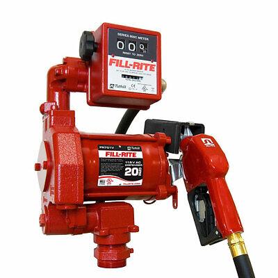 Fill-rite Fr701va 115v 20 Gpm Fuel Transfer Pump With Mechanical Gallon Meter