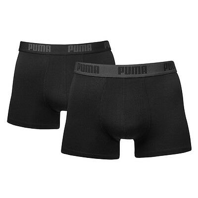 PUMA NEW Men's Boxer Shorts 2 Pack Black Sports BNWT