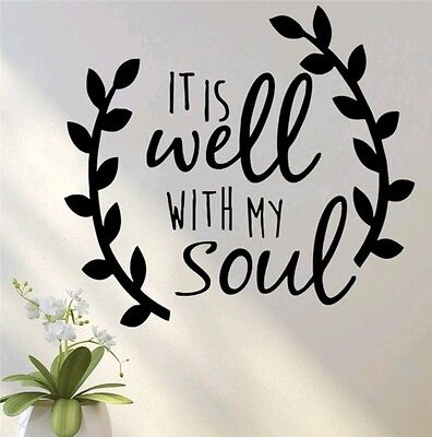 It is well with my soul car decal sticker home decor