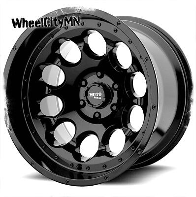 "17 x9"" gloss black Moto Metal MO990 wheels fits Ford F250 F350 Excursion 8x170  for sale  Elk Grove Village"