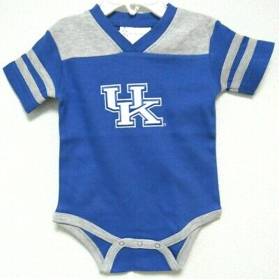 NCAA Kentucky Wildcats White KU Logo Football Creeper Two Feet Ahead -