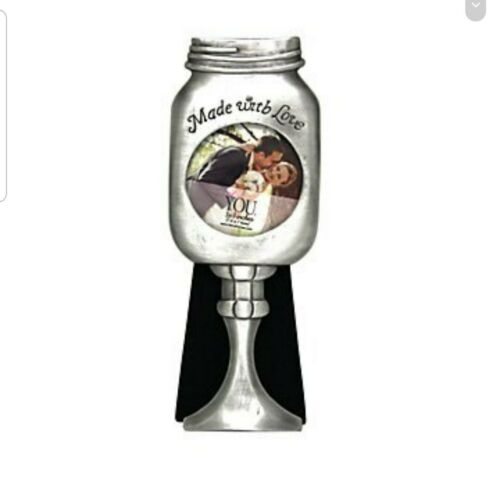 Southern Mason Jar Wine Glass 3x3 Pewter Picture Frame