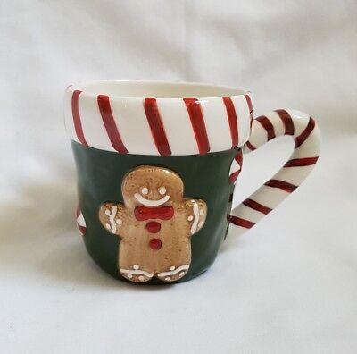 ❀ڿڰۣ❀ HAND PAINTED Christmas Gingerbread Man COFFEE MUG CUP DECORATION ❀ڿڰۣ❀ for sale  Windsor