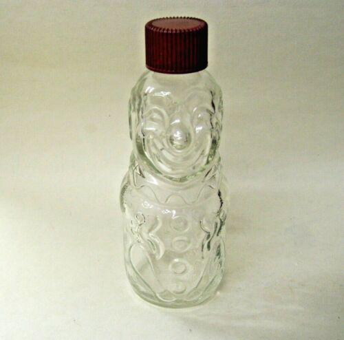 Figural Glass Clown Candy Container
