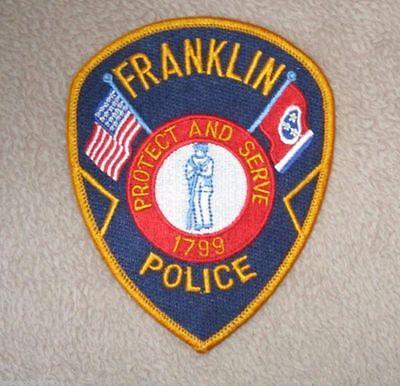 """Franklin Police Dept Shoulder Patch - Tennessee - 3 3/4"""" x 4 5/8"""""""