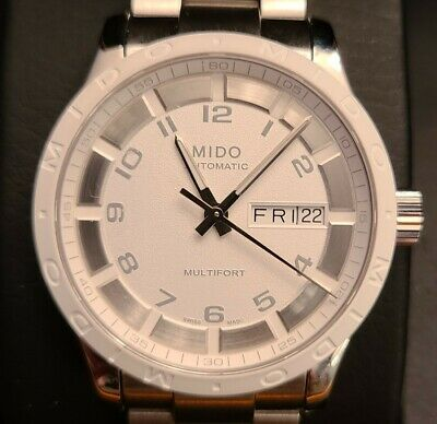 Mido Multifort Automatic White Dial Day Date SS 38 mm Watch M018.830.11.012.00