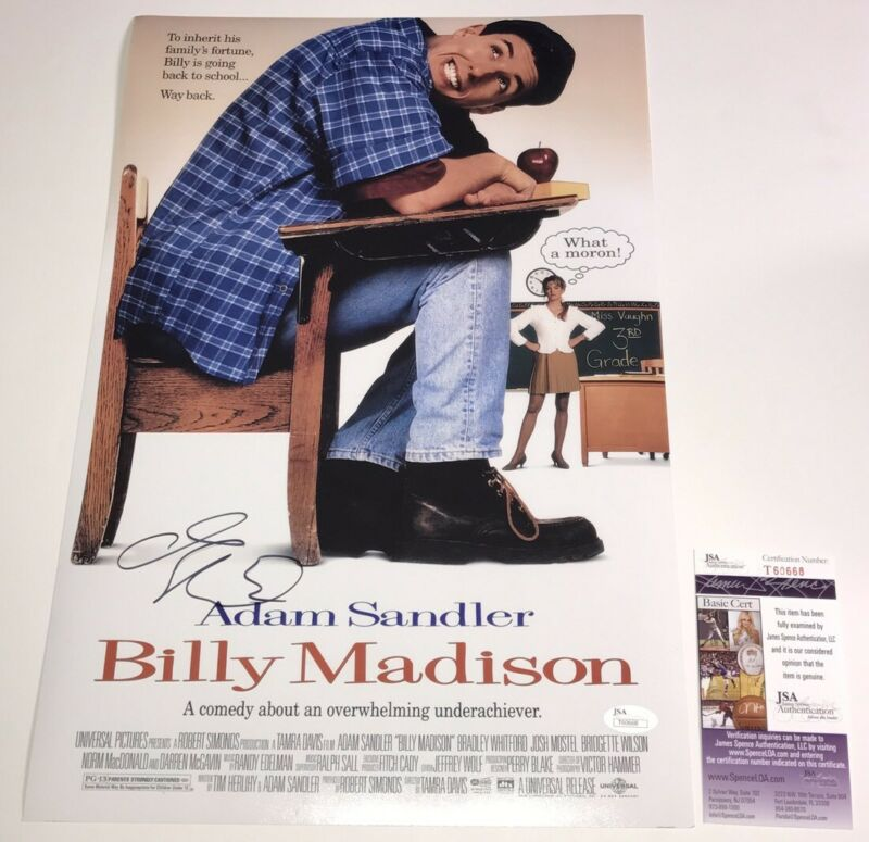 Adam Sandler Signed BILLY MADISON 12x18 Photo IN PERSON Autograph JSA COA