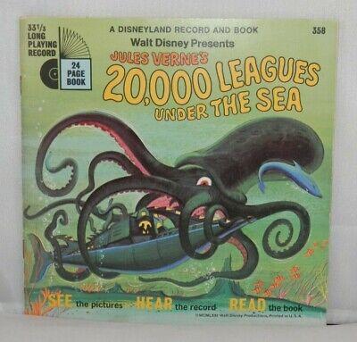 Disney Record & Book 20,000 LEAGUES UNDER THE SEA Jules Verne 1971 Disneyland