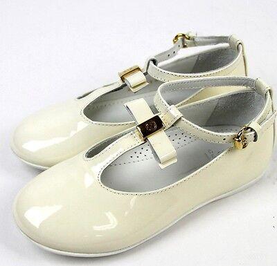 Neu Authentisch Gucci Kinder Ballett Flach W / Schleife, 23/US 7, Weiß, 285312 (Ballett Flach Kind Schuhe)