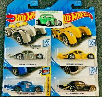 Hot Wheels - Lot of 4 - VOLKSWAGEN - Kafer Racer - Zamac - Mooneyes - Urban C12