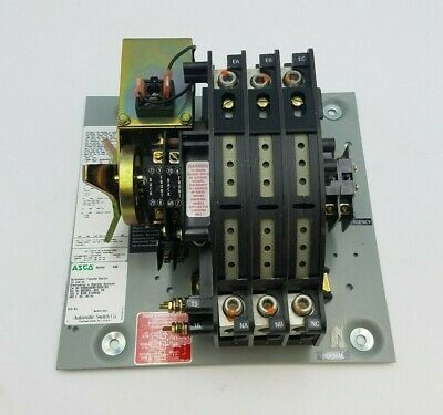 Asco Series 940 Automatic Transfer Switch Relay 150a 480v 60hz D00940030150n1x0