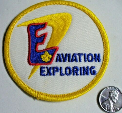 """Air Explorer Aviation Exploring Patch Red/Blue """"E"""" with FDL Uncommon Variety 3"""""""
