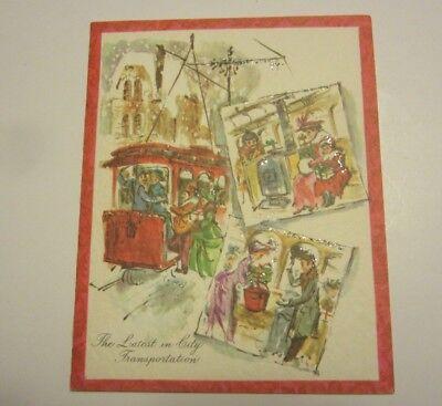 VTG Christmas Cards Hawthorne SUmmerfield  Latest in City Transportation Unused ()