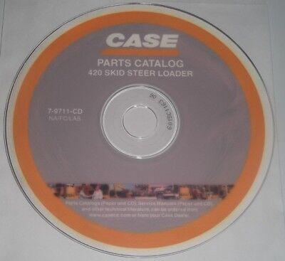Case 420 Skid Steer Loader Parts Manual Book Catalog On Dvd Cd
