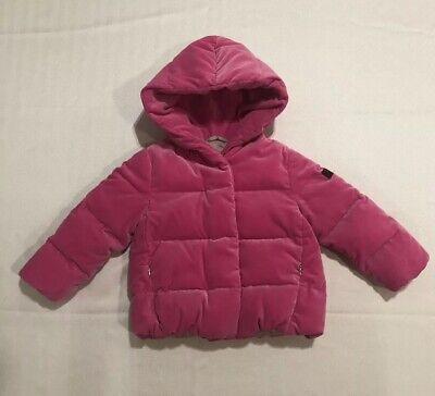 IL GUFO Girls Pink Velvet Puffer Jacket | Size 2 (original $680)