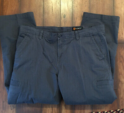 Weatherproof Mens 42 X 32 Washed Cotton Duck Work Utility Pants Gray