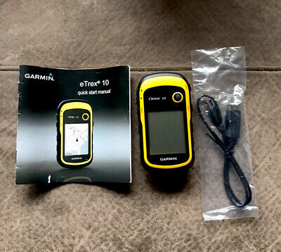GARMIN eTrex 10 handheld GPS Unit.  Comes With Original Box And All Instructions