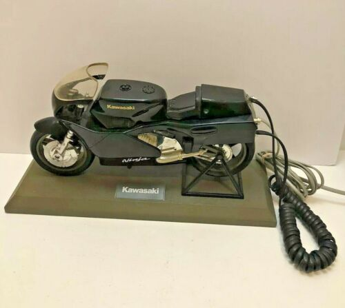 Kawasaki Black Ninja Motorcycle phone on stand
