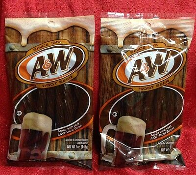 2 Bags A & W Root Beer LICORICE 5 oz Bag Candy Twists - Brand New Fresh