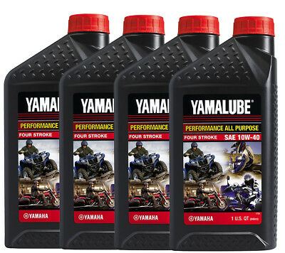 Yamaha Yamalube 10W40 All Purpose 4-Stroke Conventional Motor Oil 4QT-Pack