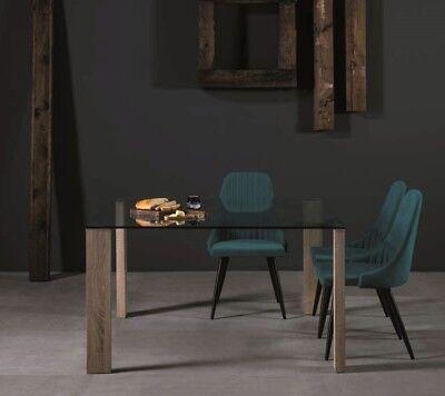 130x130 Klarglas Tischplatte Design Füße Konferenztisch (Klare Quadratische Platten)