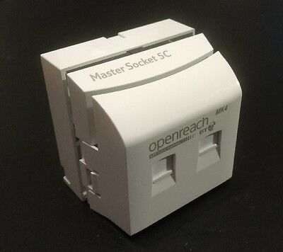 Genuine OpenReach BT Master Socket NTE5C + VDSL MK4 New2018 Clear Cams + BackBox