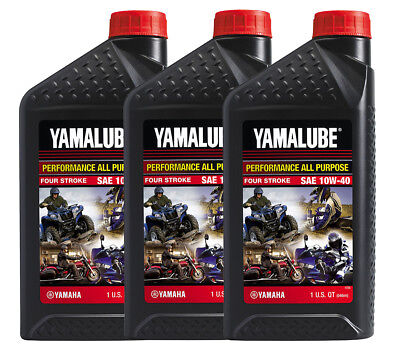 Yamaha Yamalube 10W40 All Purpose 4-Stroke Conventional Motor Oil 3QT Pack