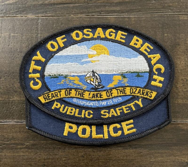 Vintage Osage Beach, Missouri Police Patch, 2-Piece Patch, Scenic/Lake, MO Patch
