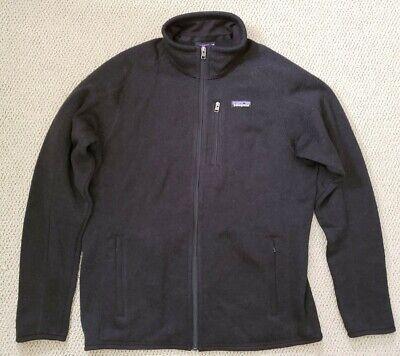 Patagonia Better Sweater Men's Size L Full Zip Black Fleece Jacket New w/