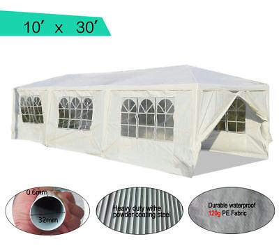 Peaktop® 10 x 30 Heavy Duty Outdoor Gazebo Wedding Party Tent Canopy Pavilion (Heavy Duty Party Tents)