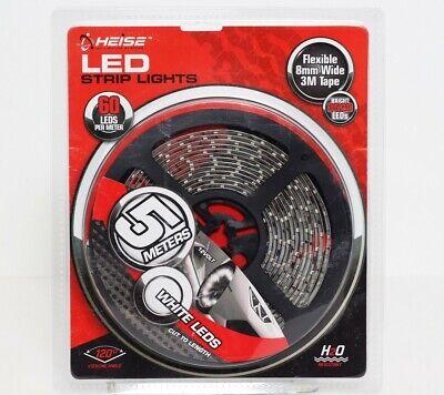 Heise / Metra Water Resistant White LED Strip Lights Cut To Length (5m) H-W535 Cut Resistant Leder