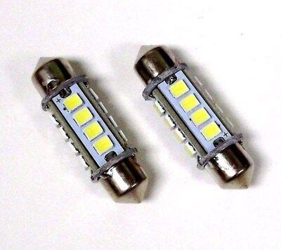 2 BBT 12 volt 36mm Marine Grade Cool White LED Running Light Bulbs