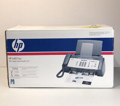 New Open Box Hp 640 Plain Paper Inkjet Qualiy Fax Pn Cb782a