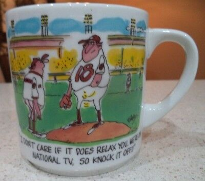 Cartoon Baseball Pitcher Coach Coffee Mug New