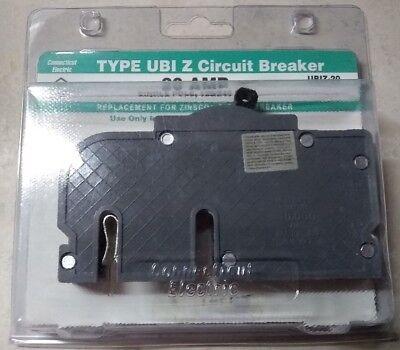 Zinsco 20 Amp Single Pole Ubiz20 Type Ubiz Circuit Breaker 120240 Vac