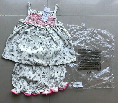 NEW Gap Baby Girls Shorts Top/T-Shirt Outfit 12-18 Months Llama Pink Pompom BNWT