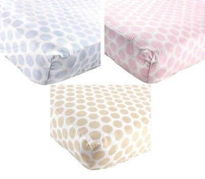 """LUVABLE FRIENDS FITTED FLANNEL CRIB SHEET 28"""" X 52"""" BOYS GIRLS NEUTRAL NEW"""