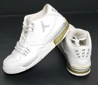 Nike Air Jordan Flight 23 Basketball Shoes White/ Silver 317820-110 Size 8.5 US