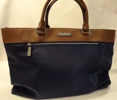 Michael Kors Navy Blue & Brown Satchel or Shoulder Style Handbag New Purse