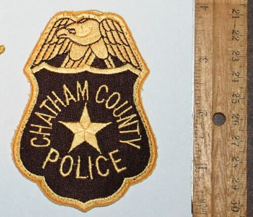 CHATHAM COUNTY POLICE Georgia GA PD Used Worn patch
