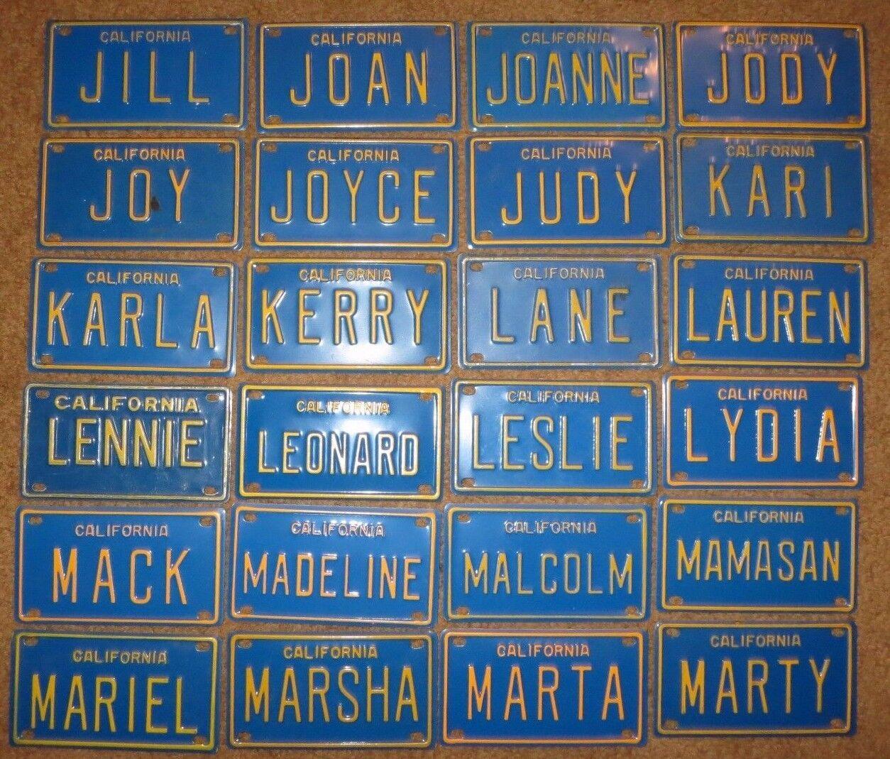Vintage California Blue Mini Bike Vanity Metal License Plate Sign Alice Harold