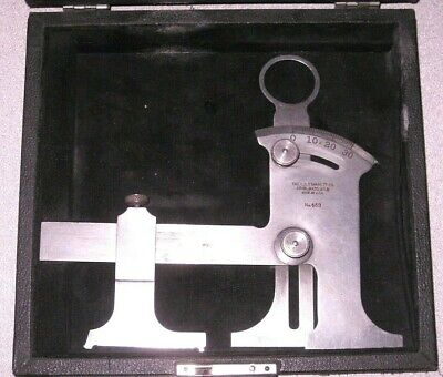 Starrett No. 459 Toolmakers Cutter Clearance Grinding Gage In Original Case