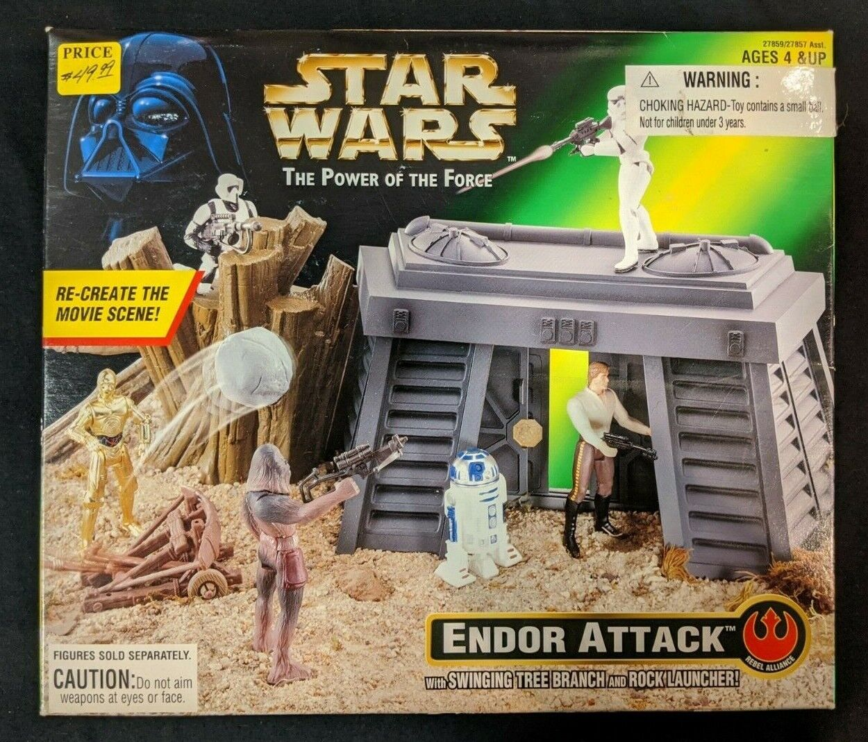Star Wars The Power of The Force Endor Attack Playset Kenner