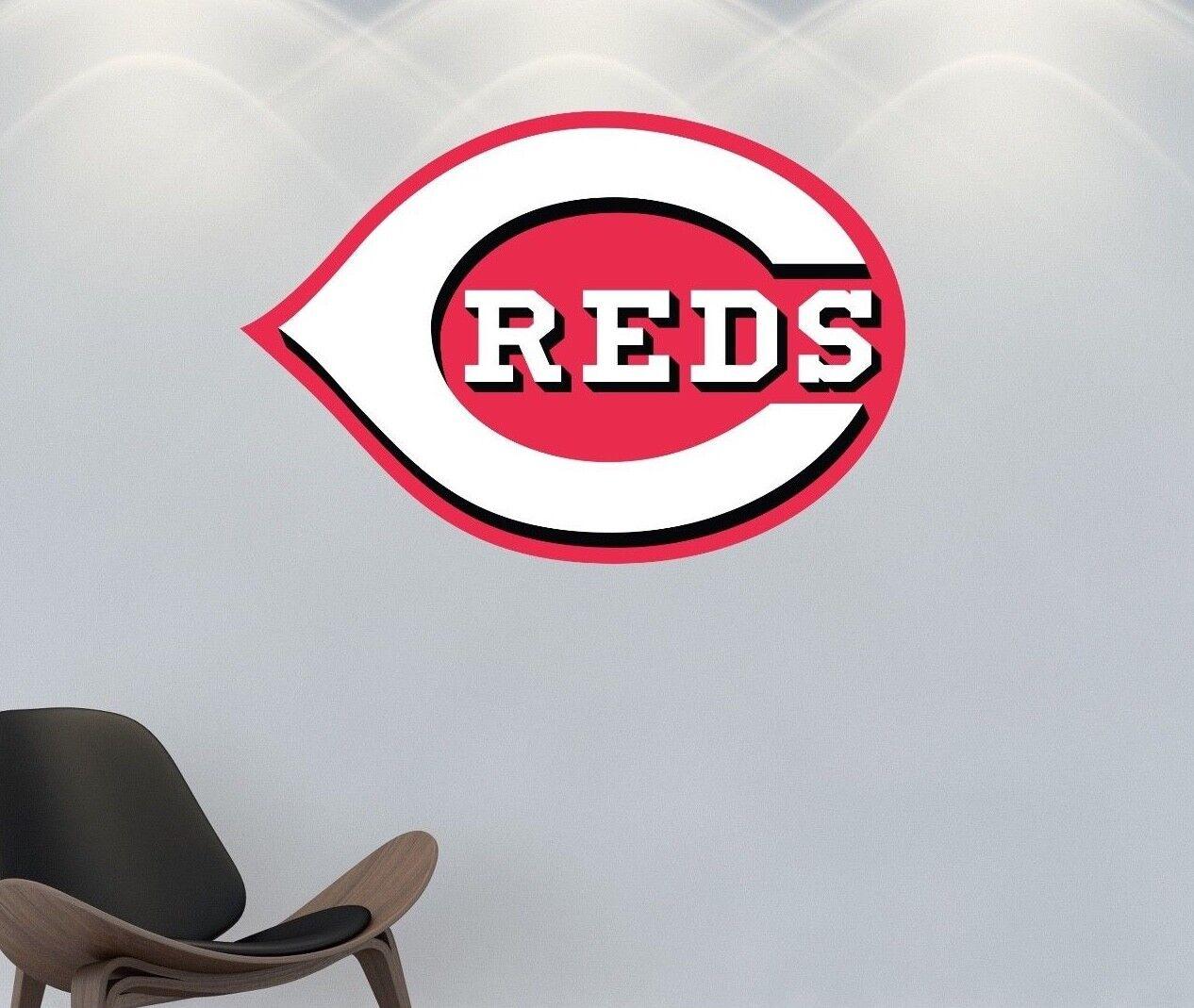Cincinnati Reds Logo Wall Decal MLB Sports Sticker Big Decor