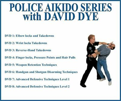 POLICE AIKIDO Instructional Series (8) DVD Set elbow wrist finger locks